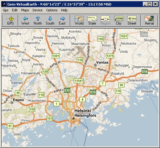 GemGlobal Moving Maps Application with GPS